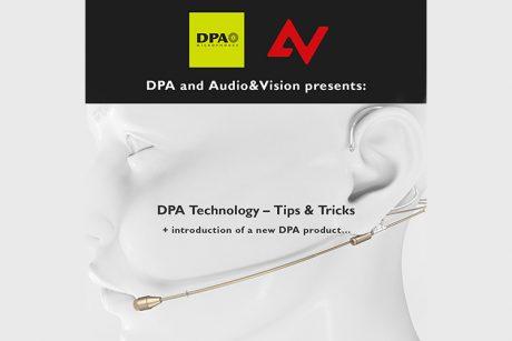 Webinar από DPA Microphones και Audio & Vision