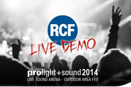 RCF Live Demo @ Prolight & Sound 2014