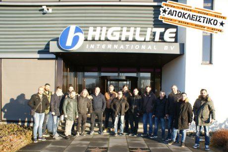 Επίσκεψη στις εγκαταστάσεις της Highlite