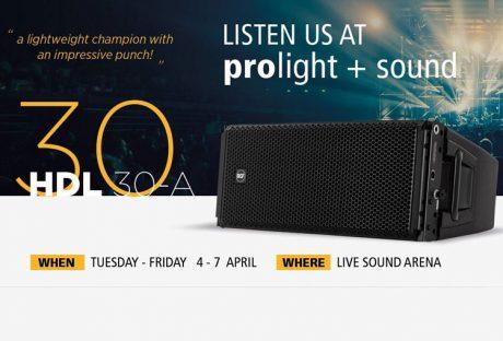 H RCF στην Prolight + Sound 2017